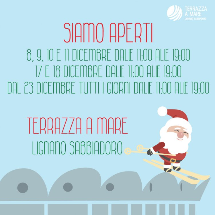 Terrazza A Mare Christmas Opening In Lignano
