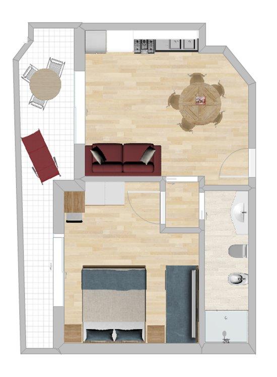 Mietet wohnung residenza noum a in lignano for Planimetrie dell appartamento seminterrato