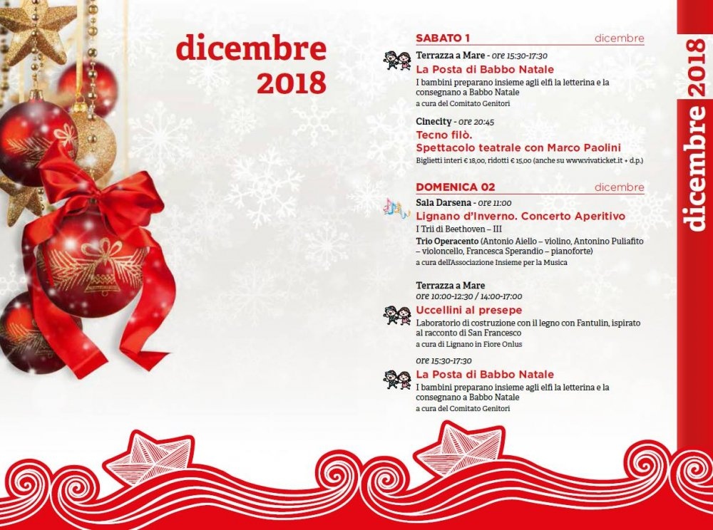 Natale D A Mare 2018 Christmas To Donate In Lignano